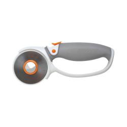 Cutter Rotatif Titanium Ø60 mm - Poignée Softgrip de marque FISKARS, référence: B4236000
