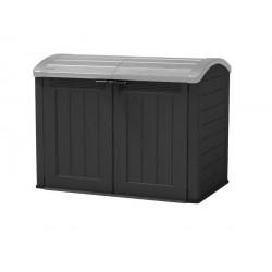 Grand coffre de jardin - 2000L - Noir - 177 x 113 x 134 cm de marque CHALET & JARDIN, référence: J5370500