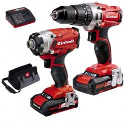 Kit outils 18V 2.0Ah Twinpack de marque EINHELL , référence: B5385400
