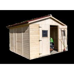 Abri en panneaux de bois 16 mm - surface utile 7,62 m² - double porte - sans plancher de marque HABRITA, référence: J5404400