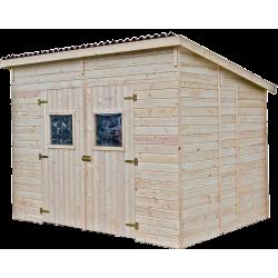 Abri en panneaux de bois sans plancher - 16 mm - surface utile 5,41 m2 - toit monopente de marque HABRITA, référence: J5404500