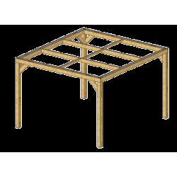Pergola en bois massif traité - dimensions 341 x 313 cm de marque HABRITA, référence: J5406600