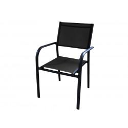Lot de 6 fauteuils Duca - graphite / noir de marque PROLOISIRS, référence: J5420300