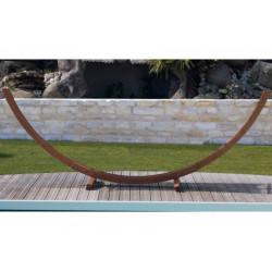 Support hamac arc meleze fsc (sans toile) - Naturel de marque PROLOISIRS, référence: J5424700