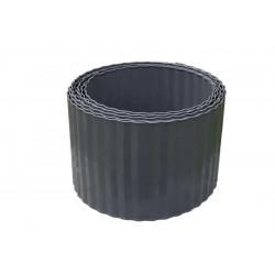 Bordure acier ondulé - 600 x H 14 cm - gris foncé de marque NORTENE , référence: J5435100