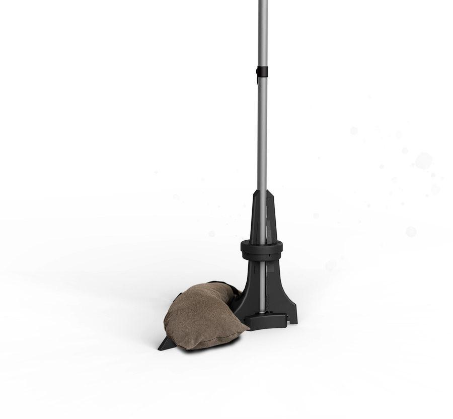 Pied pour parasol de balcon marron foncé - 50 Kg - de Ø20 à 40 mm