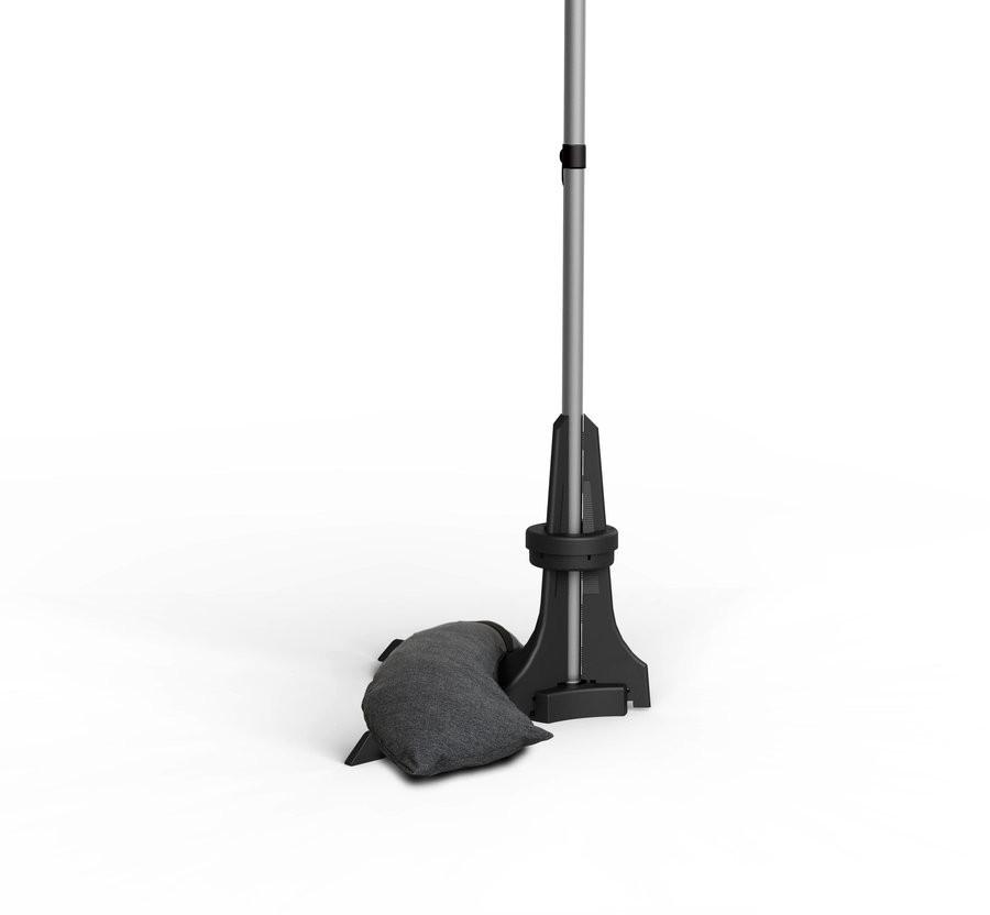 Pied pour parasol de balcon anthracite - de Ø20 à 40 mm - 20 Kg