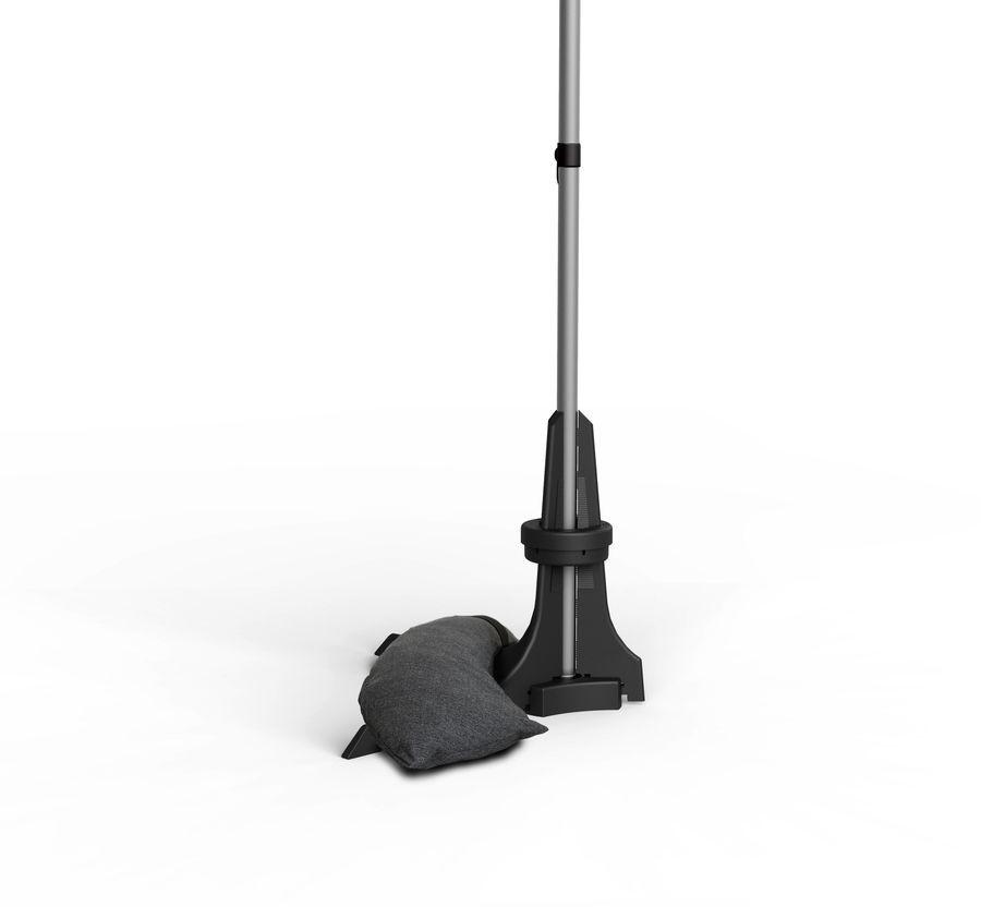 Pied pour parasol de balcon anthracite - de Ø20 à 40 mm - 50 Kg