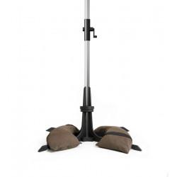 Pied pour parasol de jardin marron foncé - de Ø28 à 58 mm - 40 Kg de marque Baser, référence: J5437800