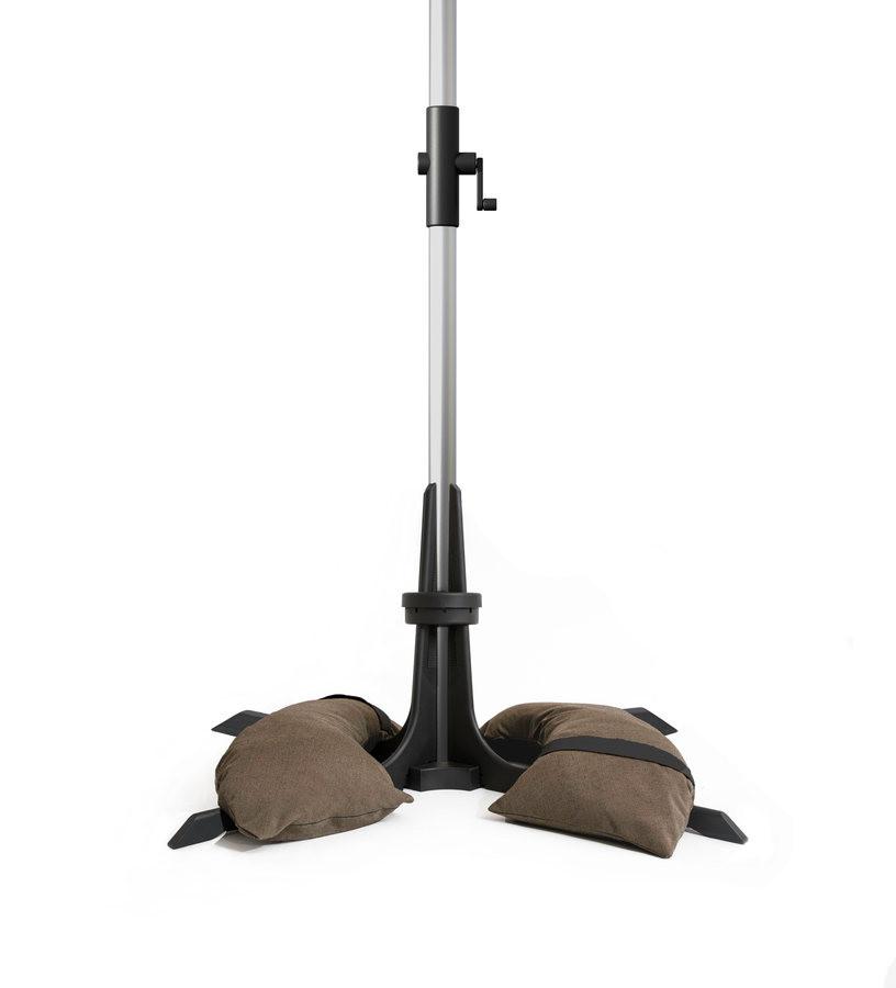 Pied pour parasol de jardin marron foncé - de Ø28 à 58 mm - 40 Kg