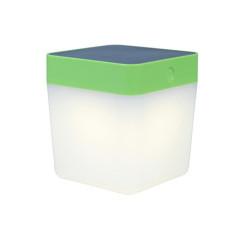 Lampe à poser Verte TABLE CUBE, LED Intégrée, 1W, 100 lumens, 3000K, IP44, SOLAIRE, Classe III de marque CALI, référence: B5464000