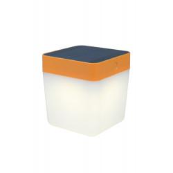 Lampe à poser Orange TABLE CUBE, LED Intégrée, 1W, 100 lumens, 3000K, IP44, SOLAIRE, Classe III de marque CALI, référence: B5464100