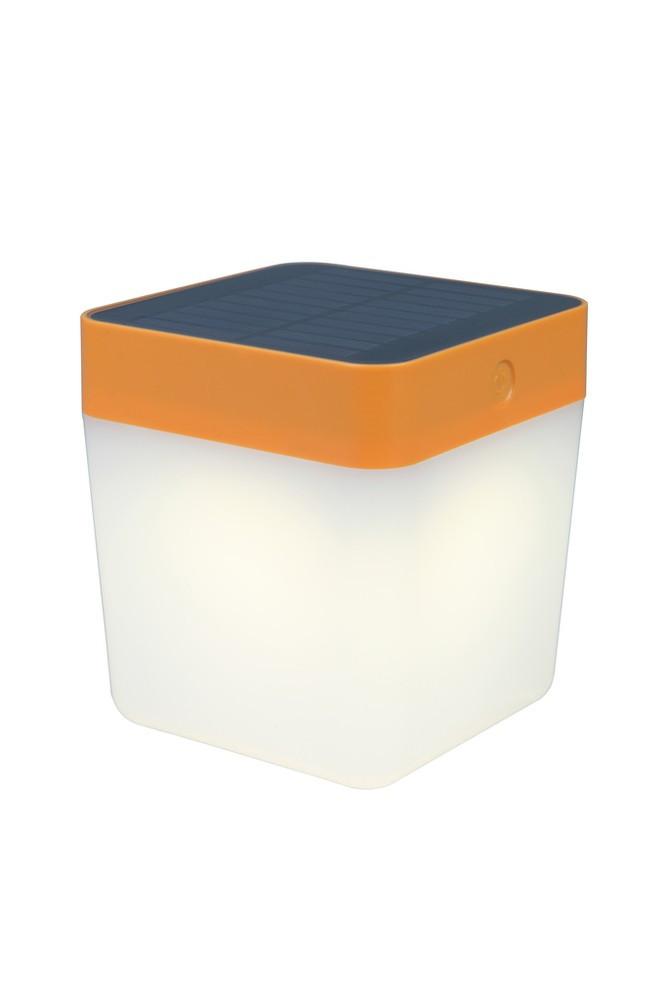 Lampe à poser Orange TABLE CUBE, LED Intégrée, 1W, 100 lumens, 3000K, IP44, SOLAIRE, Classe III