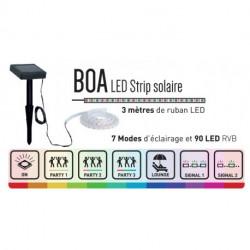 Guirlande Transparente BOA, LED Intégrée, 30 lumens, RGB, IP44, SOLAIRE, Classe III de marque CALI, référence: J5467800
