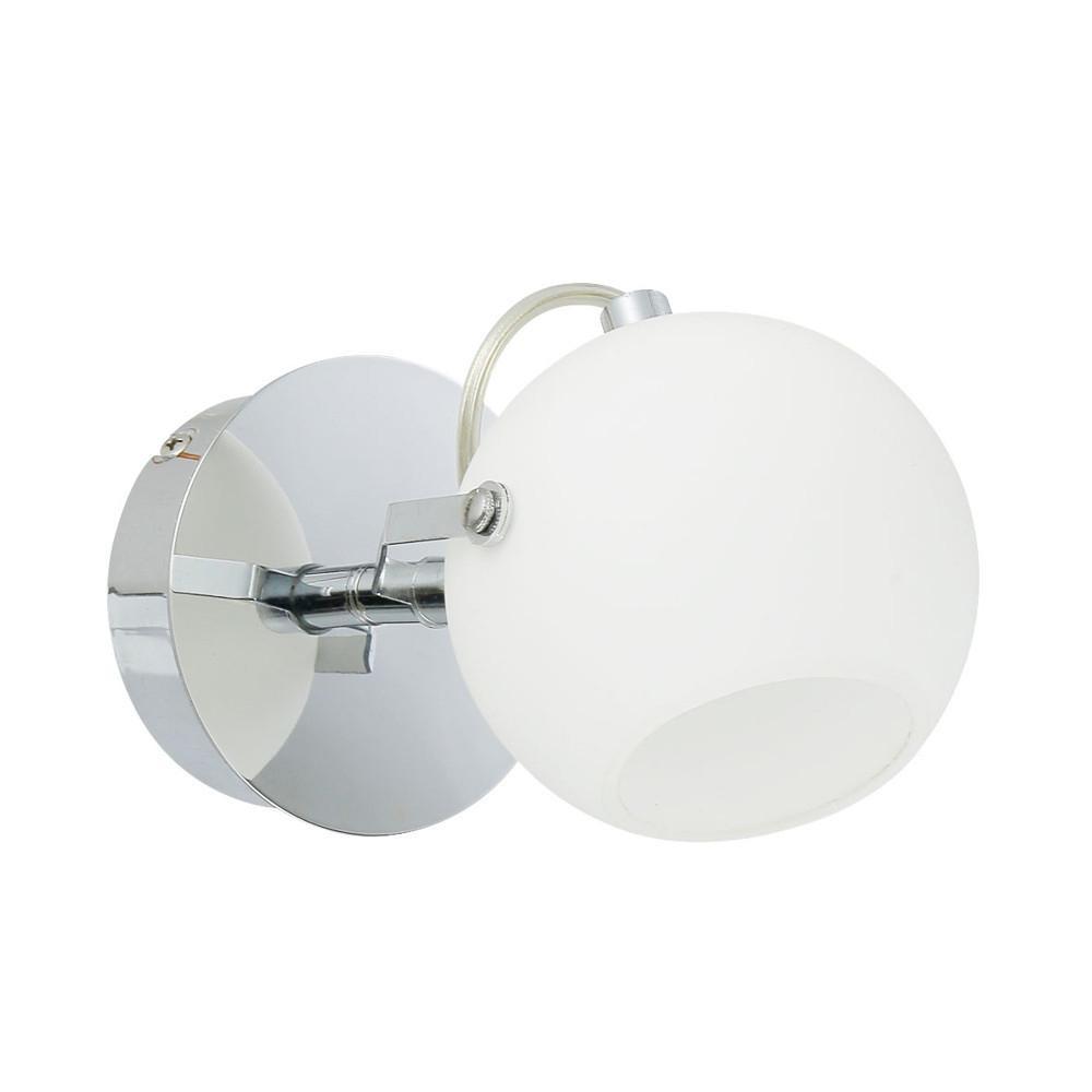 Applique Chrome & Blanc Ida, 1x LED 3W, IP20, 230V, Classe I