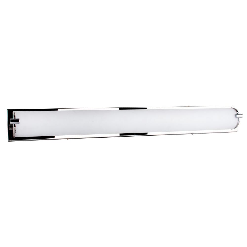 Applique Chrome & Blanc Romy, LED intégrée 40W, 3200 lm, 3000K, IP20, 230V,Classe I