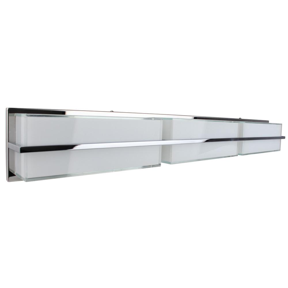 Applique Chrome & Blanc Sally, LED intégrée 30W, 2400 lm, 3000K, IP20, 230V,Classe I