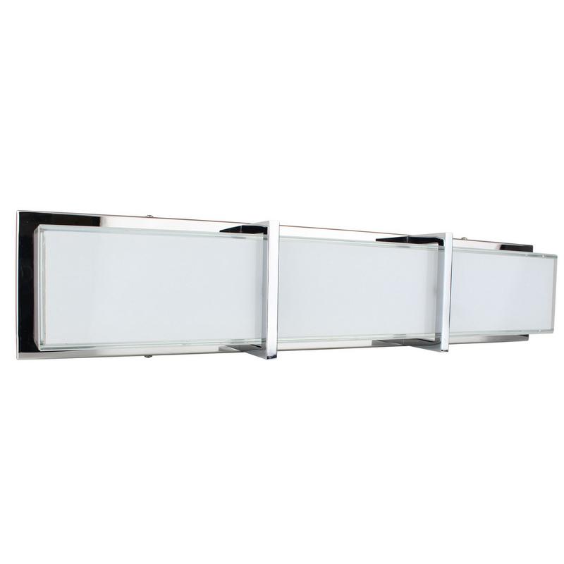 Applique Chrome & Blanc Zoey, LED intégrée 27W, 2400 lm, 3000K, IP20, 230V,Classe I