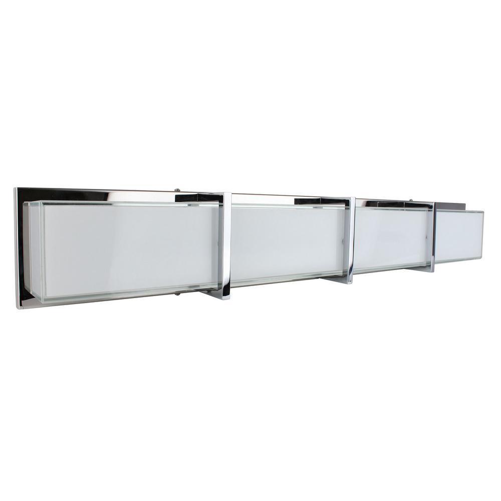 Applique Chrome & Blanc Zoey, LED intégrée 40W, 3200 lm, 3000K, IP20, 230V,Classe I