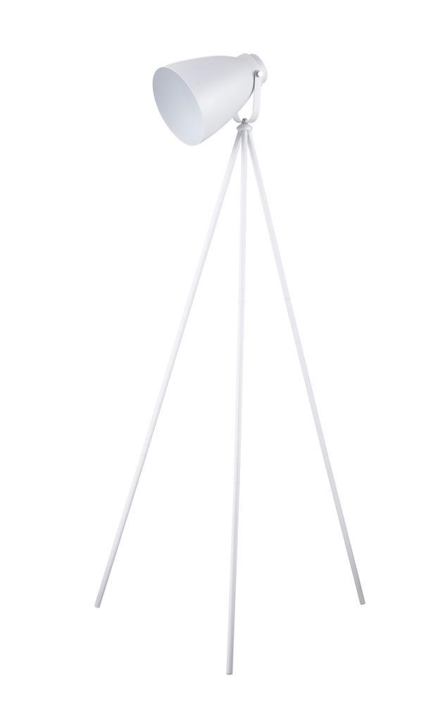Lampadaire Blanc Marla, 1xE27 Max 60W , IP20, 230V AC, Classe II