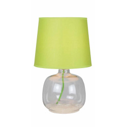 Lampe à poser Vert/Transparent Mandy, 1xE14 Max 40W , IP20, 230V AC, Classe II de marque Spot-Light, référence: B5479400