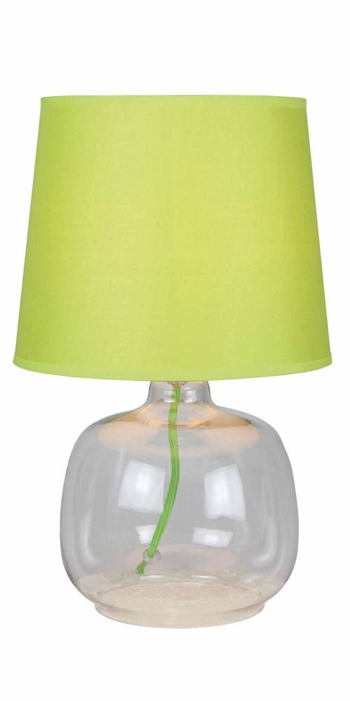 Lampe à poser Vert/Transparent Mandy, 1xE14 Max 40W , IP20, 230V AC, Classe II