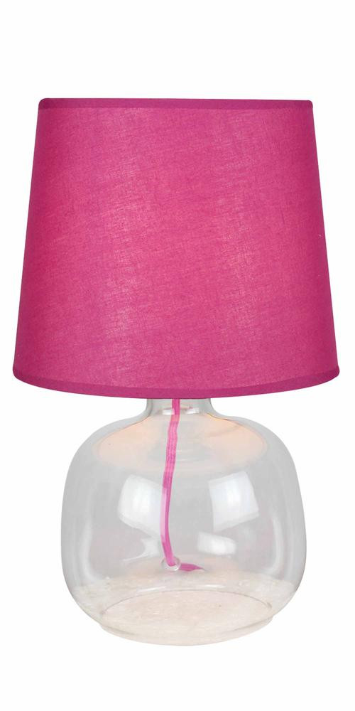 Lampe à poser Bordeau/Transparent Mandy, 1xE14 Max 40W , IP20, 230V AC, Classe II