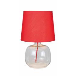 Lampe à poser Rouge/Transparent Mandy, 1xE14 Max 40W , IP20, 230V AC, Classe II de marque Spot-Light, référence: B5479600