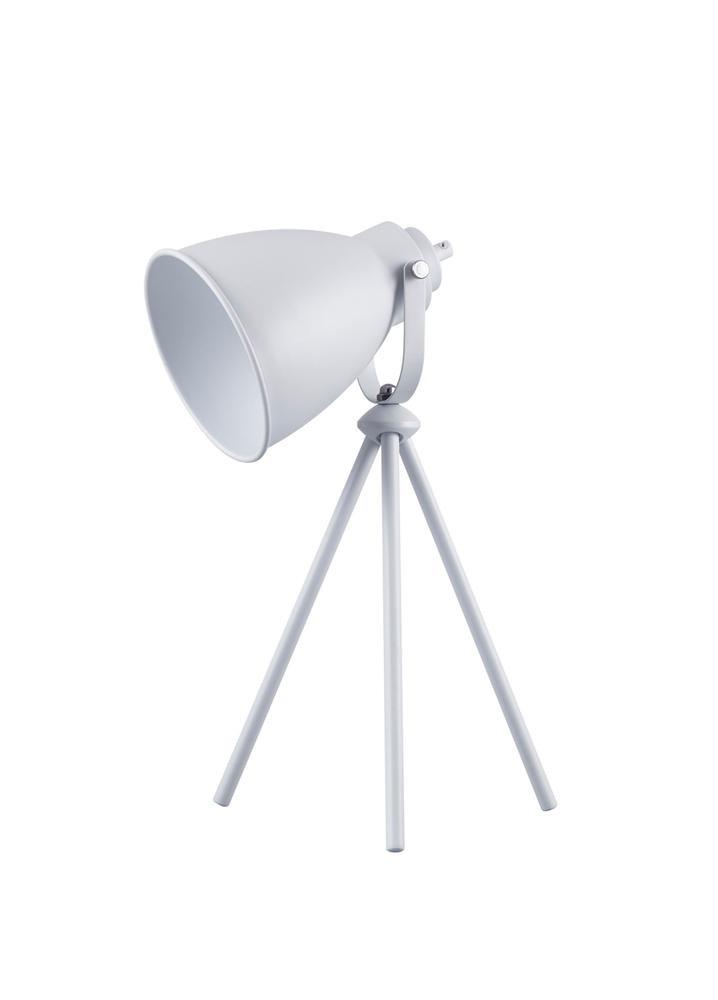 Lampe à poser Blanc Marla, 1xE27 Max 40W , IP20, 230V AC, Classe II