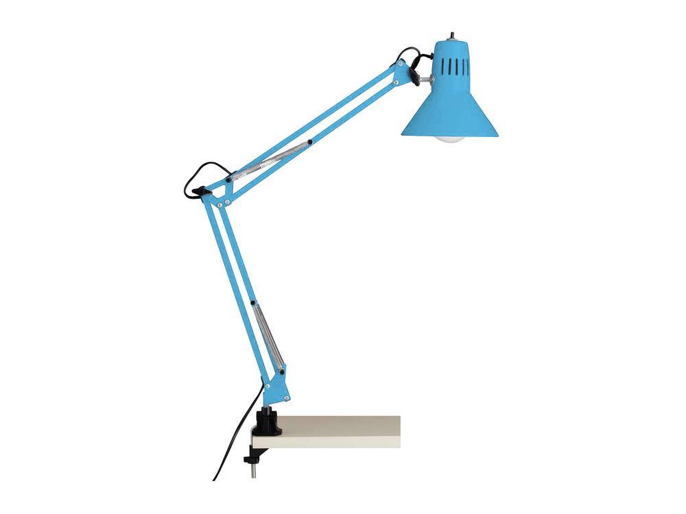 Lampe à poser Bleu Pastel Felix, 1xE27 Max 40W , IP20, 230V AC, Classe II