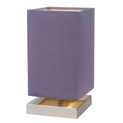 Lampe à poser Violet/Satin Nanga, 1xE14 Max 40W , IP20, 230V AC, Classe II de marque Spot-Light, référence: B5480400