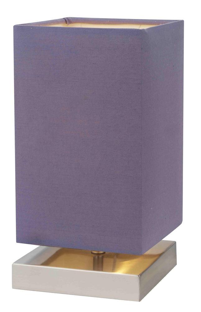 Lampe à poser Violet/Satin Nanga, 1xE14 Max 40W , IP20, 230V AC, Classe II