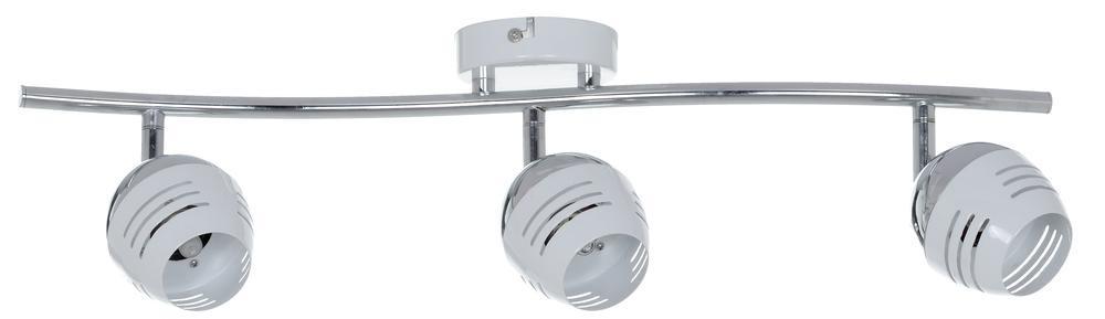 Plafonnier Chrome/Blanc Hypnos, Inclue 3xG9 28W , IP20, 230V AC, Classe I