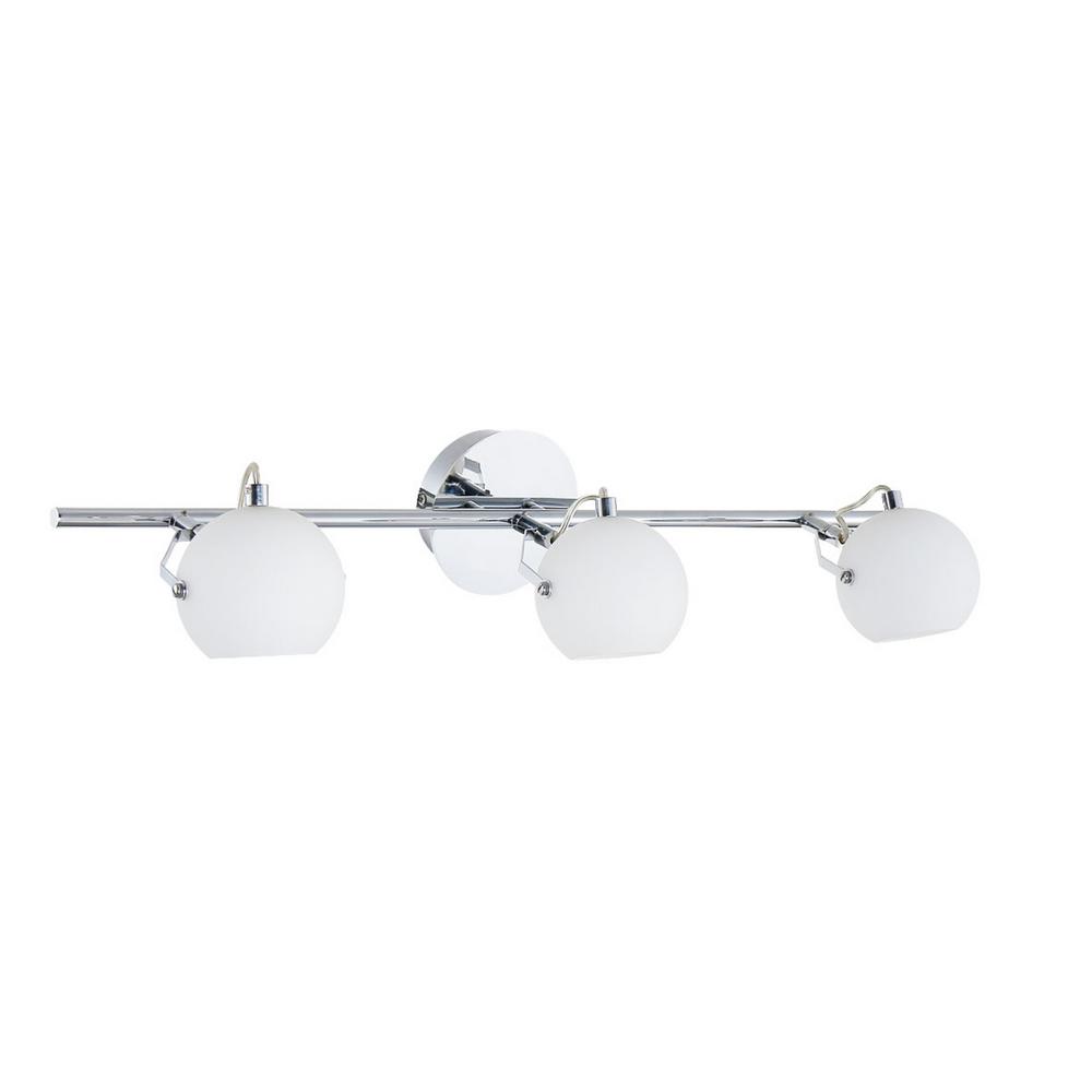 Plafonnier Chrome & Blanc Ida, 3x LED 3W, IP20, 230V, Classe I