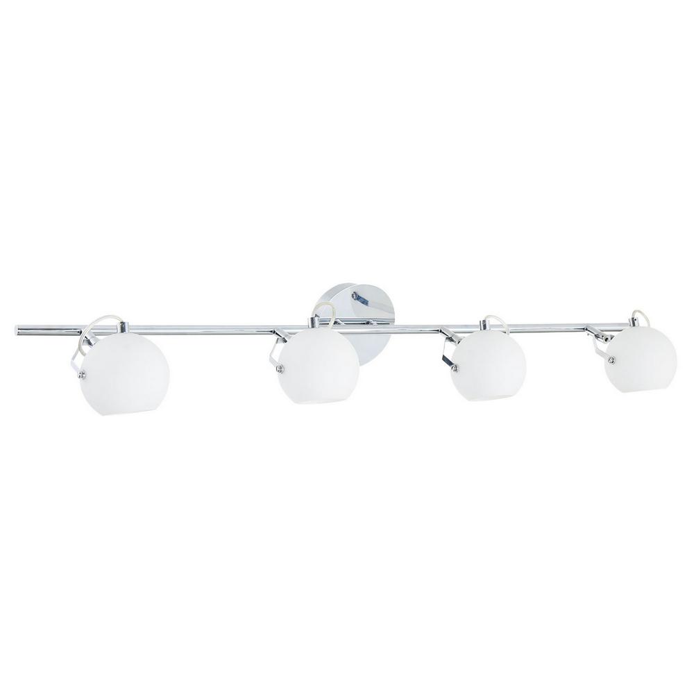 Plafonnier Chrome & Blanc Ida, 4x LED 3W, IP20, 230V, Classe I