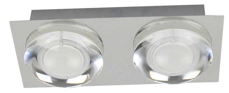 Plafonnier Chrome Primo, LED Inclue 2x 5W , IP20, 230V AC, Classe I