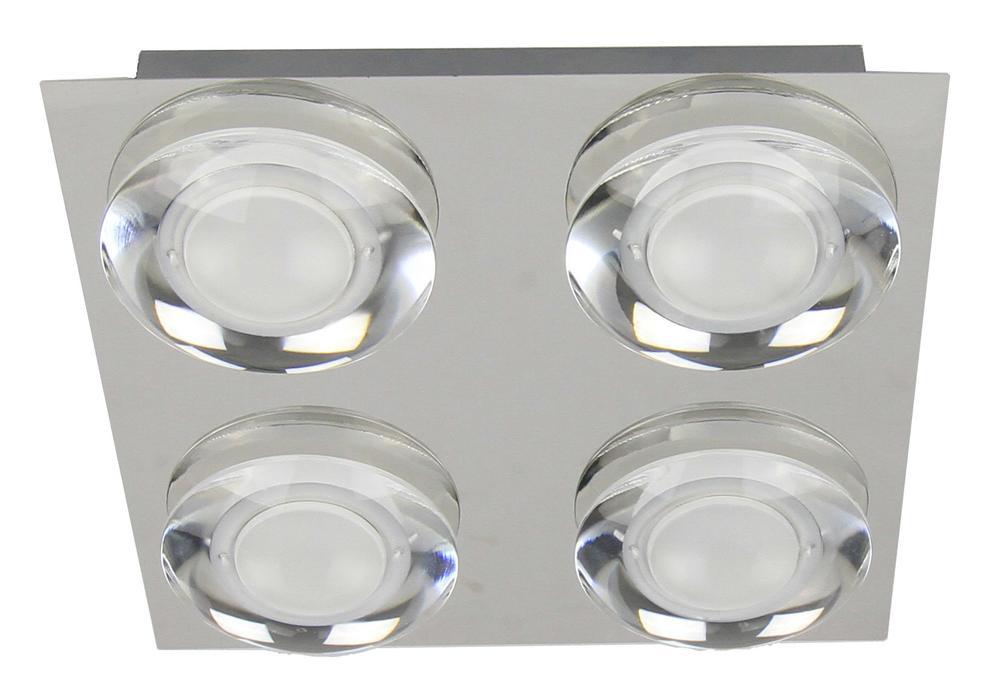 Plafonnier Chrome Primo, LED Inclue 4x 5W , IP20, 230V AC, Classe I