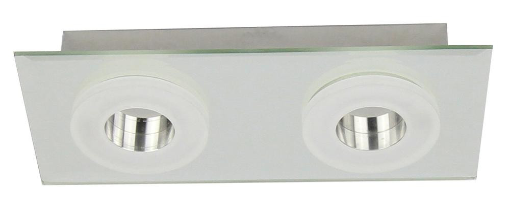 Plafonnier Chrome Vito, LED Inclue 2x 6W , IP20, 230V AC, Classe I