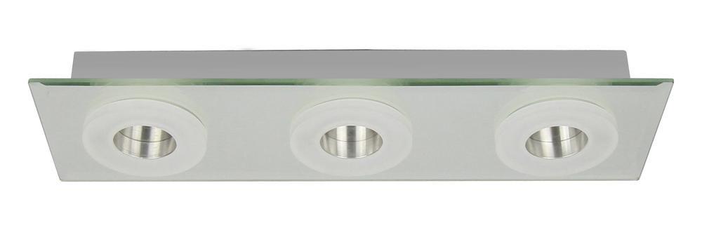 Plafonnier Chrome Vito, LED Inclue 3x 6W , IP20, 230V AC, Classe I