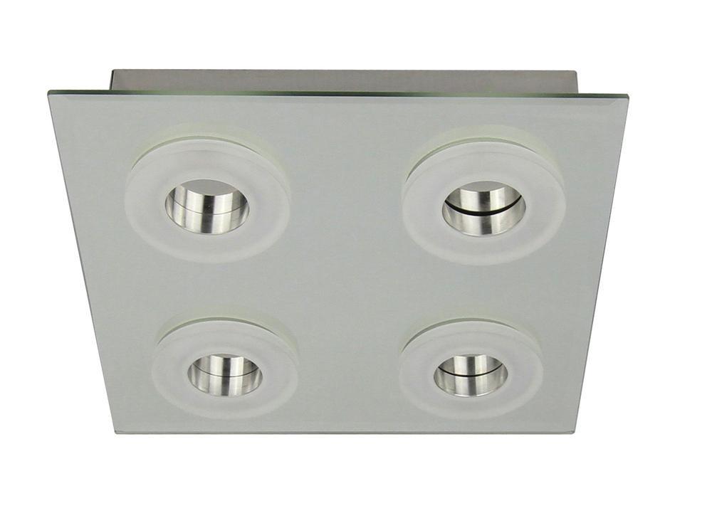 Plafonnier Chrome Vito, LED Inclue 4x 6W , IP20, 230V AC, Classe I