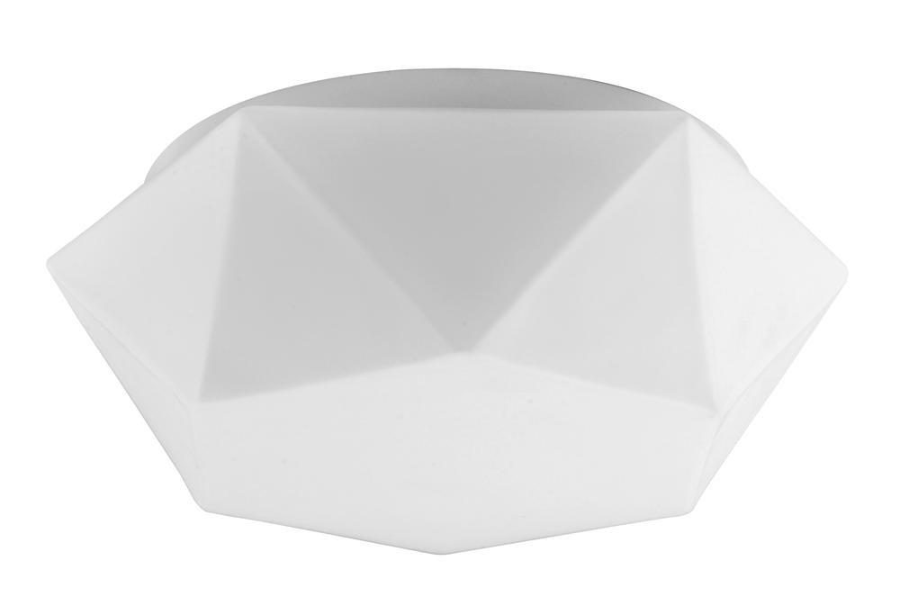 Plafonnier Blanc Gea grand, Led Inclue 1x 12W , IP20, 230V AC, Classe II