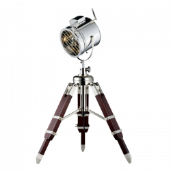 Projecteur cinéma à poser, Bois & Aluminium, 1x E27-Max.60W, IP20, 230V, Classe II de marque Spot-Light, référence: B5490300