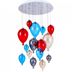 Suspension Multicolore Balloon, 15x G4-20W, IP20, 230V, Classe I de marque Spot-Light, référence: B5490800