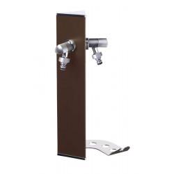 Colonne d'eau murale WALL Bronze métallique - 40 cm - Aluminium - Double robinet de marque Colortap, référence: J5500600