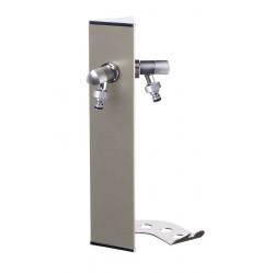 Colonne d'eau murale WALL Grise tourterelle - 40 cm - Aluminium - Double robinet de marque Colortap, référence: J5500700