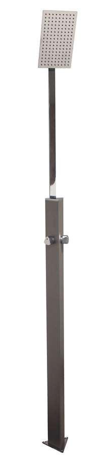 Douche de jardin SHOWERPOINT Grise tourterelle - 220 cm - Aluminium - Mixeur chaud/froid