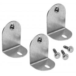 3 pièces de fixation pour toute la gamme de colonne d'eau - Métal de marque Colortap, référence: J5501800