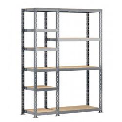 Concept rangement de garage - longueur 150 cm - 10 plateaux de marque Modulö Storage, référence: B5503700