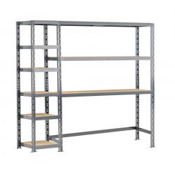 Concept rangement de garage - longueur 200 cm - 9 plateaux de marque Modulö Storage, référence: B5503800