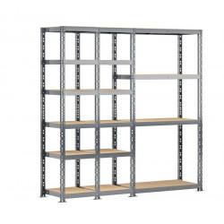 Concept rangement de garage - longueur 200 cm - 16 plateaux de marque Modulö Storage, référence: B5503900